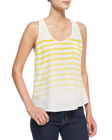Rain B Striped Silk Tank   Rain B Striped Silk Tank