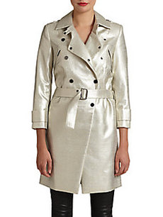 Robert Rodriguez Metallic Moto Coat