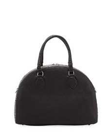 Panettone Large Eyelet Satchel Bag, Black   Panettone Large Eyelet Satchel Bag, Black