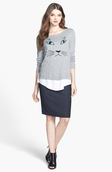 kensie Sweater & Halogen® Suiting Skirt
