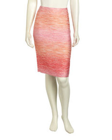 Lafayette 148 New York Ombre Tweed Pencil Skirt, Spectrum