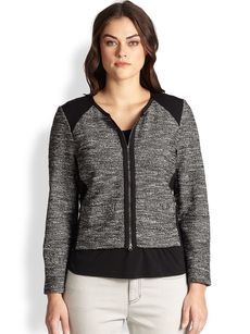 Eileen Fisher, Sizes 14-24 Roundneck Jacket