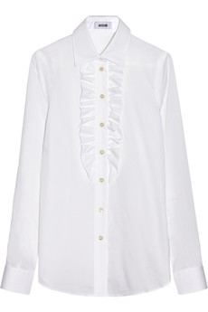 Moschino Ruffled cotton shirt