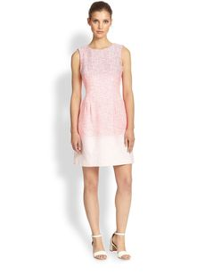 Kay Unger Tweed Ombre Dress