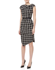 Michael Kors Taos Plaid Wool Dress