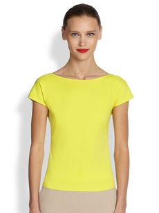 Akris Punto Scoop-Back Jersey Top