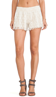 T-Bags LosAngeles Lace Shorts in Cream