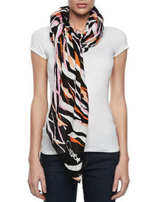 Security Tiger Shadow Scarf, Black/Pink   Security Tiger Shadow Scarf, Black/Pink