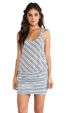 Michael Stars Sleeveless Racer Back Dress in Navy