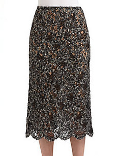 Michael Kors Mohair Lace Skirt