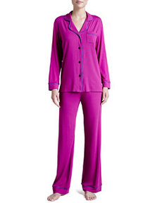Bella Piped Solid Pajamas, Jelly/Sweet Grape   Bella Piped Solid Pajamas, Jelly/Sweet Grape