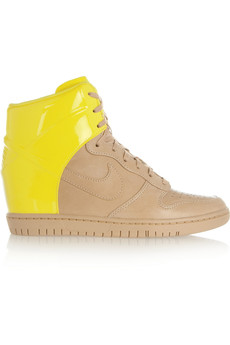 Nike Dunk Sky Hi leather wedge sneakers
