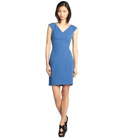Marc New York denim cap sleeve sweetheart neck sheath dress