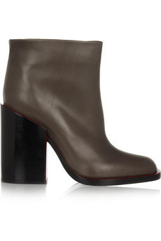 Jil Sander Chunky-heel leather ankle boots