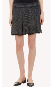 Proenza Schouler Striped Layered Mini Skirt