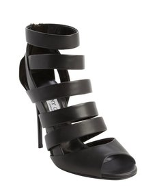 Jimmy Choo black strappy open toe 'Damsen' booties