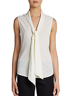 Calvin Klein Sleeveless Secretary Blouse