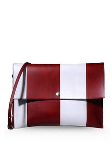 MARNI No appliqués Stripes Snap button closure External pocket Adjustable shoulder straps Messenger bags Medium not made of fur