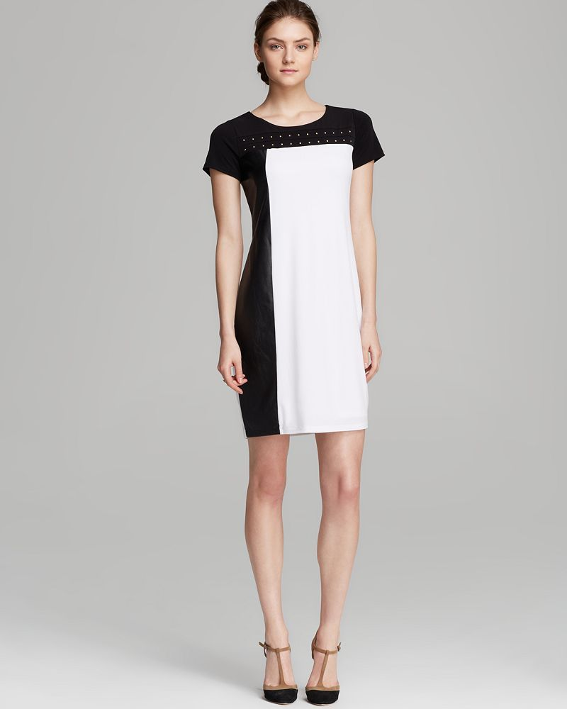 Calvin Klein Color Block Stud Dress