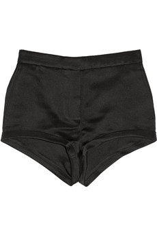 Burberry Prorsum Silk-satin shorts