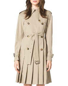 Pleated Trenchcoat Dress   Pleated Trenchcoat Dress