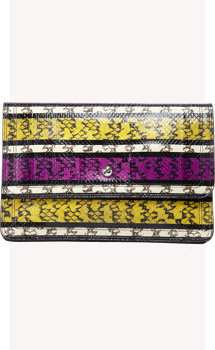 Givenchy Snakeskin Striped Clutch