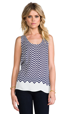 Joie Placed Rain G Matte Silk Tank in Navy