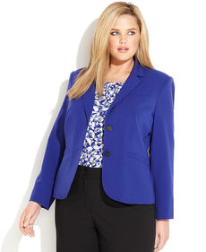 Calvin Klein Plus Size Two-Button Blazer
