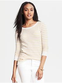 Textured Stripe Pullover