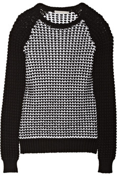 Jason Wu Crochet-knit cotton-blend sweater