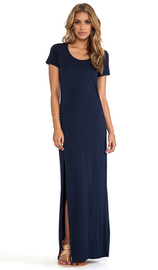 Michael Stars Tee Shirt Maxi Dress in Navy
