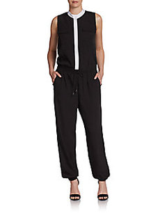 Saks Fifth Avenue RED Contrast-Trim Jumpsuit
