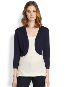 Saks Fifth Avenue Collection Silk/Cashmere Bolero