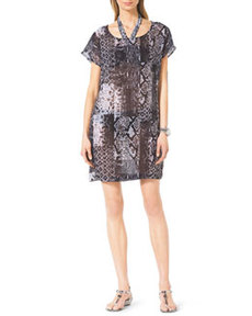 MICHAEL Michael Kors Snake-Print Coverup Dress