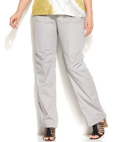 INC International Concepts Plus Size Convertible Cargo Pants