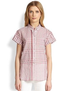Burberry Brit Check Half-Button Shirt