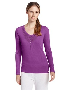 Kensie Women's Weekend Warmup Pajama Top