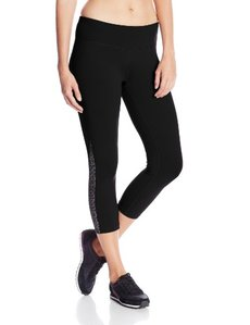 Calvin Klein Performance Women's Print Insert Crop Tight