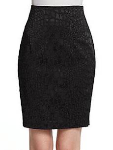 Catherine Malandrino Akela Jacquard Pencil Skirt