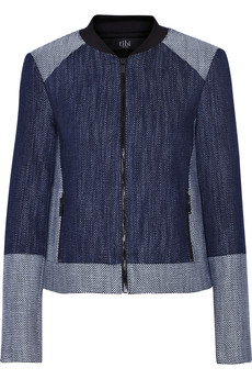 Tibi Basketweave denim jacket