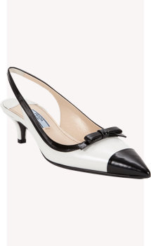 Prada Two-color Slingback Pump