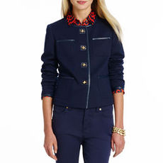 Long Sleeve Jacket with Patch Pocket Detail