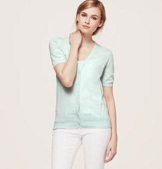 Cotton Short Sleeve Cardigan