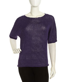 Lafayette 148 New York Dolman-Sleeve Sweater, Currant