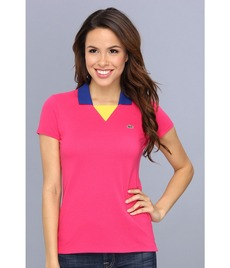 Lacoste Short Sleeve Color Block Pique Polo