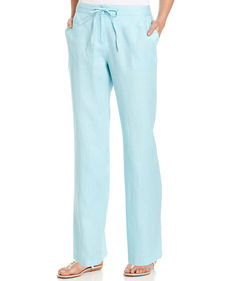 Charter Club Linen Drawstring Pants