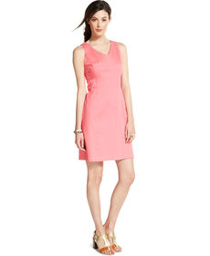 Tommy Hilfiger Sleeveless Seamed Shift Dress