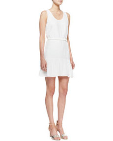 Ori Ruffle-Hem Sleeveless Dress   Ori Ruffle-Hem Sleeveless Dress