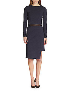 Brunello Cucinelli Wool Jersey Belted Dress