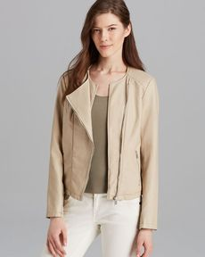 Calvin Klein Collarless Moto Jacket